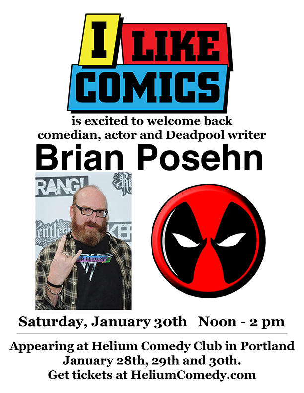 Brian Posehn at I Like Comics in Vancouver, WA!