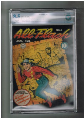 ALL-FLASH-8-CBCS-Grade-85-Super-Gold-Age-1943-find-from-DC-Comics-Restored-301667649753