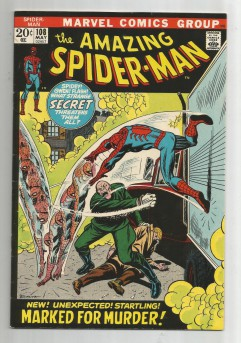 AMAZING-SPIDER-MAN-v1-108-Bronze-Age-Grade-75-Classic-Marked-For-Murder-301694657738