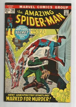 AMAZING-SPIDER-MAN-v1-108-Bronze-Age-Grade-85-Classic-Marked-For-Murder-291521571237