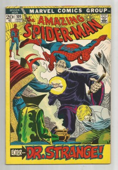 AMAZING-SPIDER-MAN-v1-109-Bronze-Age-Grade-80-Classic-Featuring-Dr-Strange-301696021981