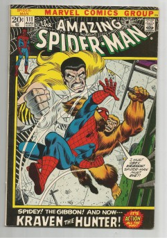 AMAZING-SPIDER-MAN-v1-111-Bronze-Age-Grade-80-Classic-Featuring-Kraven-291522860537