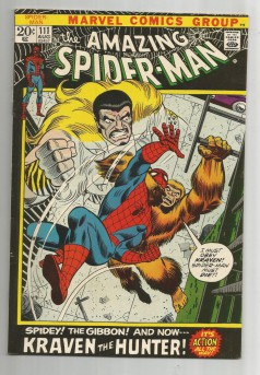 AMAZING-SPIDER-MAN-v1-111-Bronze-Age-Grade-80-Featuring-Kraven-The-Hunter-291522853585