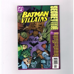 BATMAN-VILLAINS-SECRET-FILES-2005-Ltd-to-2000-signed-by-Kevin-Nowlan-w-COA-NM-291509170734