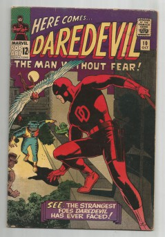 DAREDEVIL-10-Silver-Age-Grade-60-Classic-With-Gorgeous-Wally-Wood-Cover-Work-301703745985