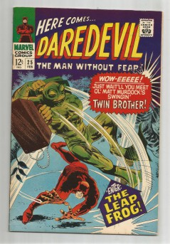 DAREDEVIL-25-Silver-Age-Grade-75-Classic-Featuring-The-Leap-Frog-291530668554