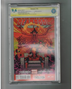 DEADPOOL-v3-12-CBCS-Grade-96-Signature-Series-signed-by-Brian-Posehn-301802629663