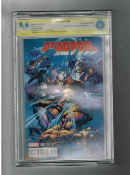 DEADPOOL-v3-18-CBCS-Grade-96-120-variant-Sig-series-signed-by-Brian-Posehn-291619534547