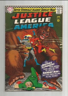JUSTICE-LEAGUE-OF-AMERICA-45-Silver-Age-Grade-70-Featuring-Shaggy-Man-301729110810