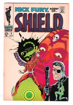 NICK-FURY-AGENT-OF-SHIELD-5-Grade-80-Conclusion-of-classic-Steranko-storyline-291310971453