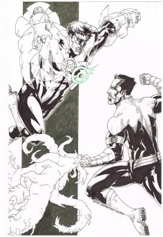 Original-comic-art-commission-GREEN-LANTERN-SINESTRO-by-Nestor-Celario-301719726766
