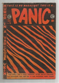 PANIC-7-Golden-Age-EC-Grade-45-With-Absurd-Tiger-Stripe-Cover-301683656603