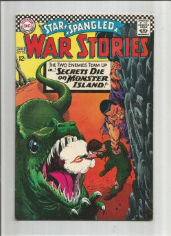 STAR-SPANGLED-WAR-STORIES-130-Silver-Age-Grade-70-With-Great-Dinosaur-Cover-301740601005