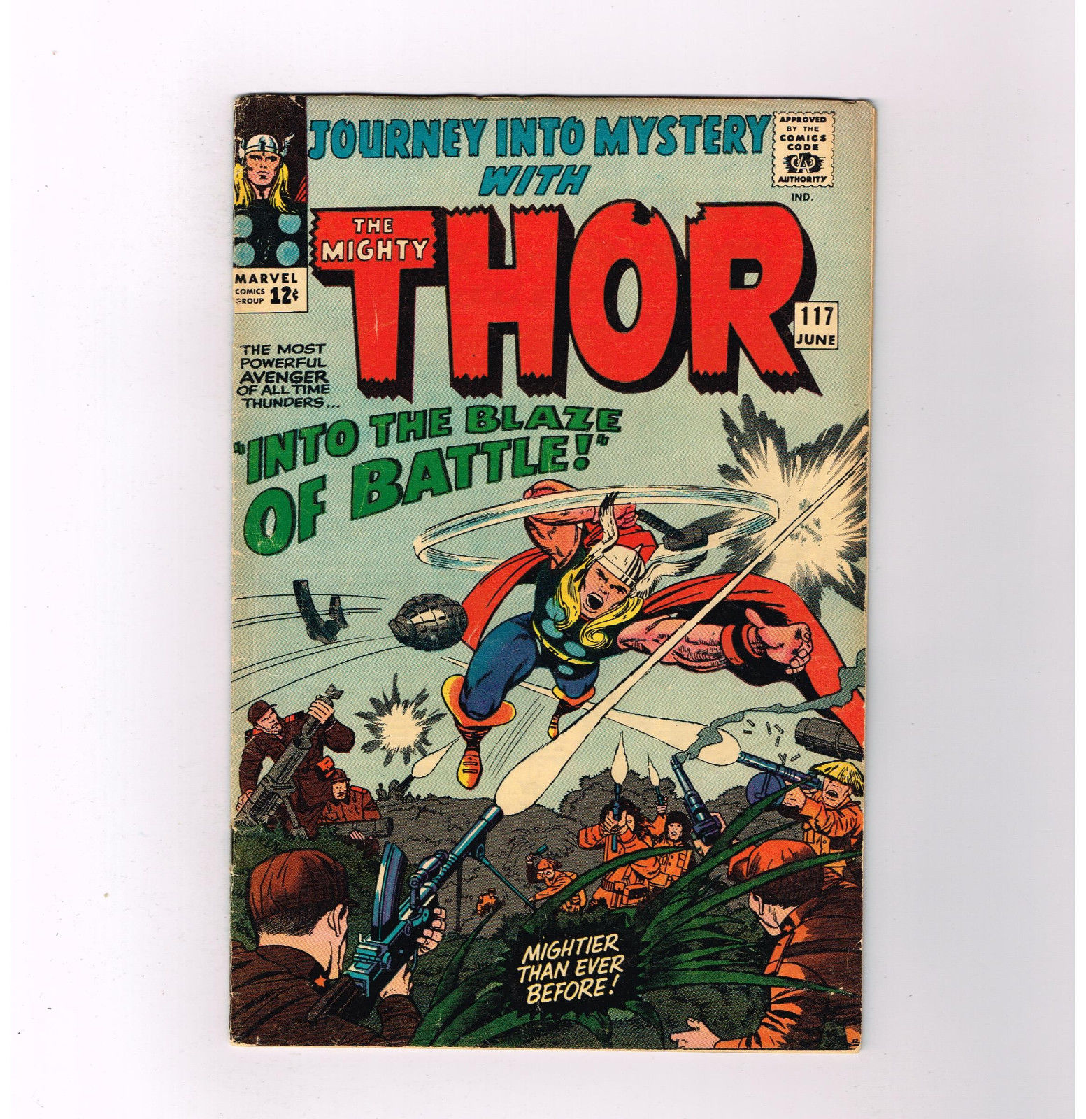 journey into mystery thor 117 grade 6 5 silver age into the